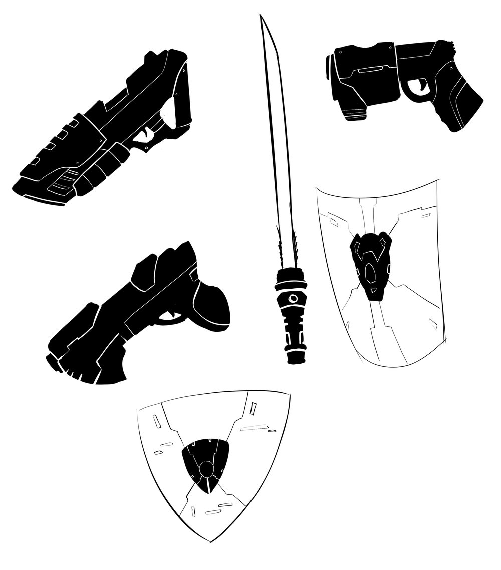 Weapon Sillhouettes - MMO Project