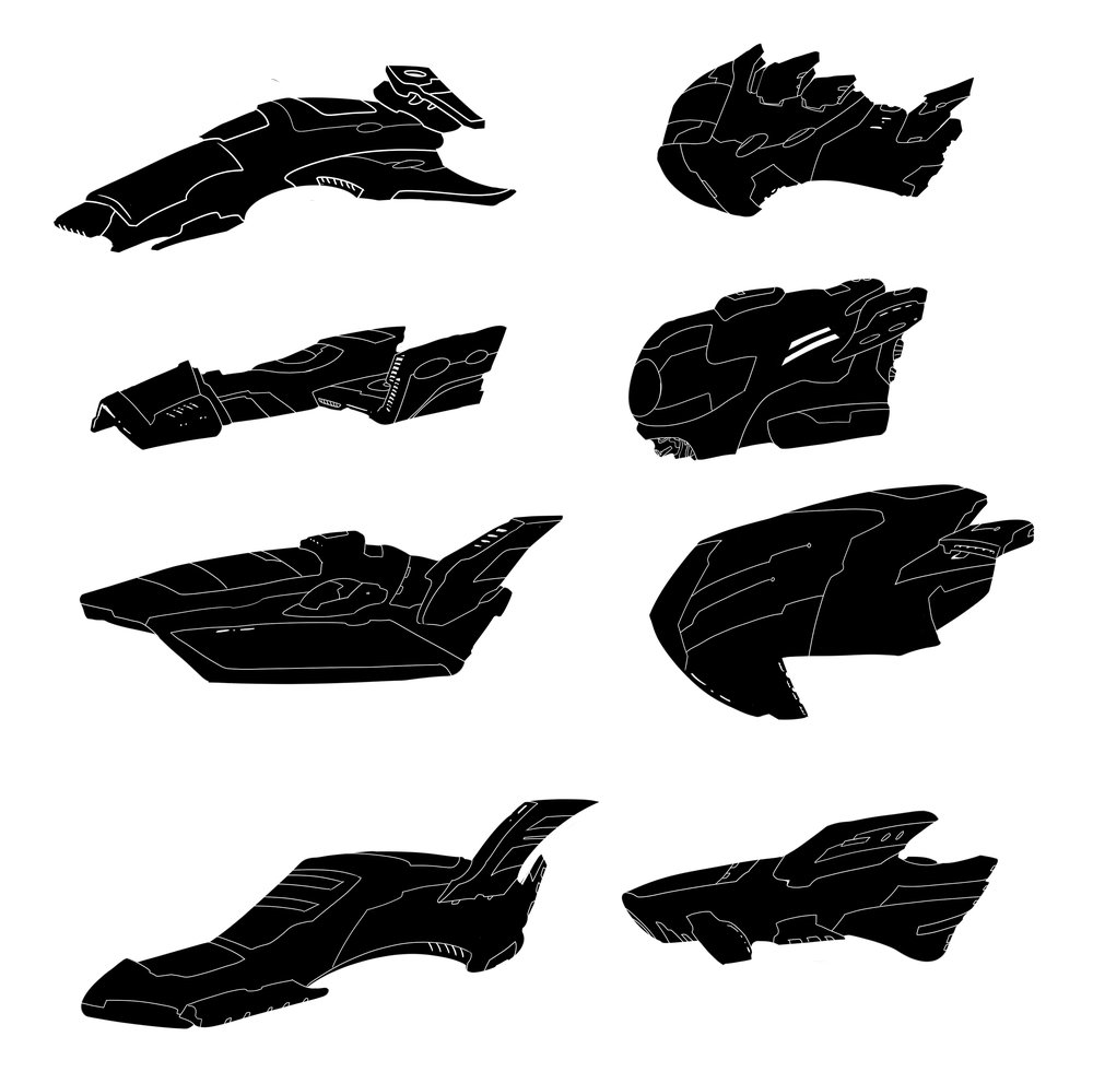 Spaceship Silhouettes - MMO Project