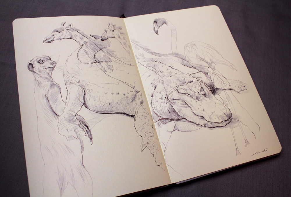 Croc and giraffe