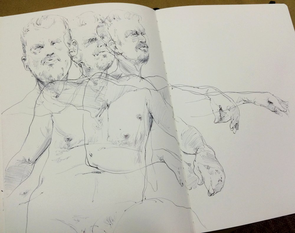 Life drawing figure study_1