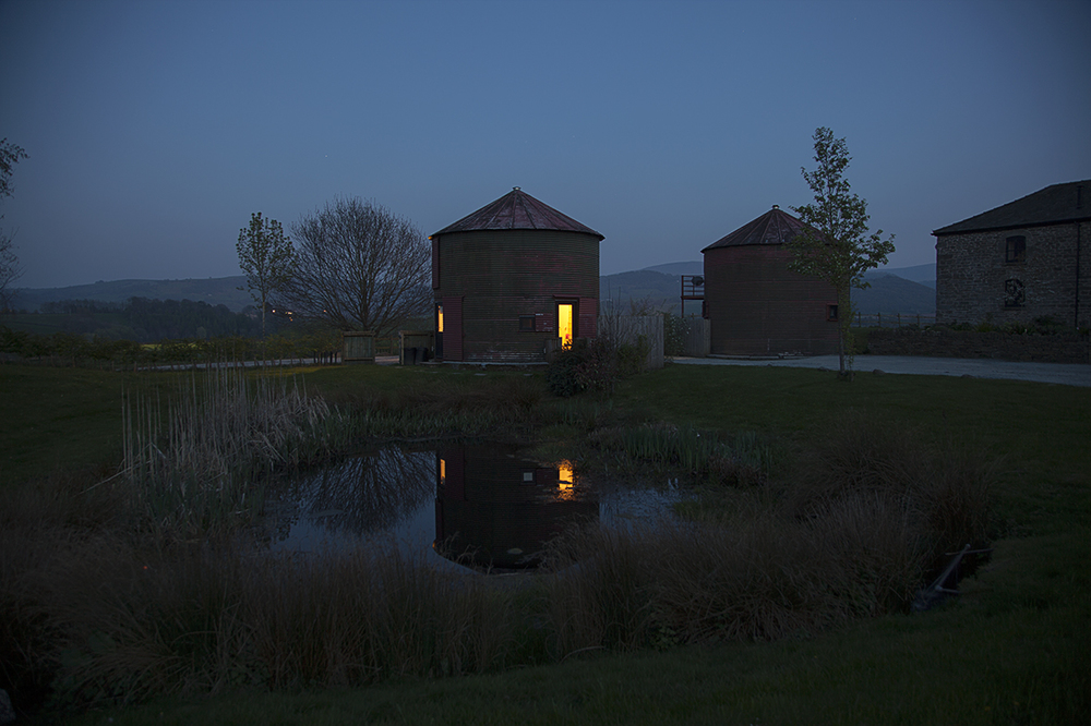 The Silo by night.