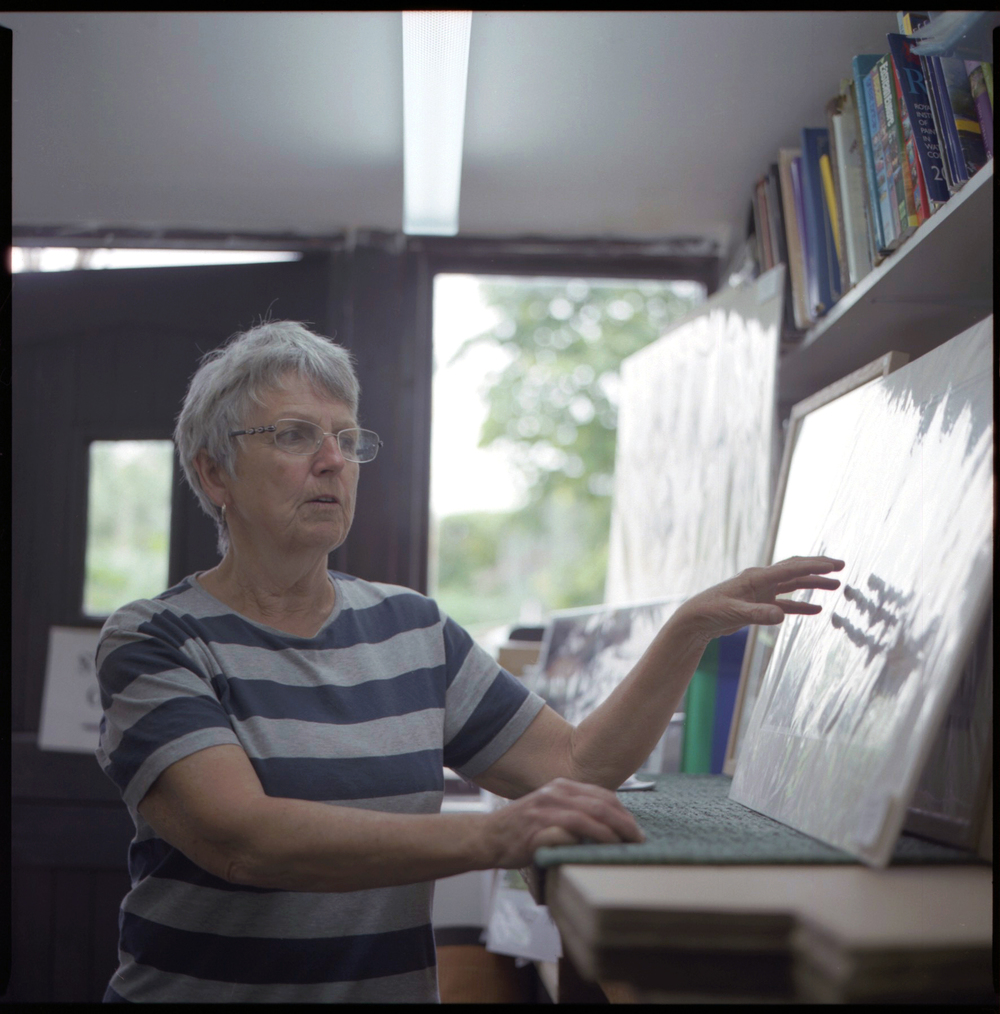 Jane Scott in her studio 2016