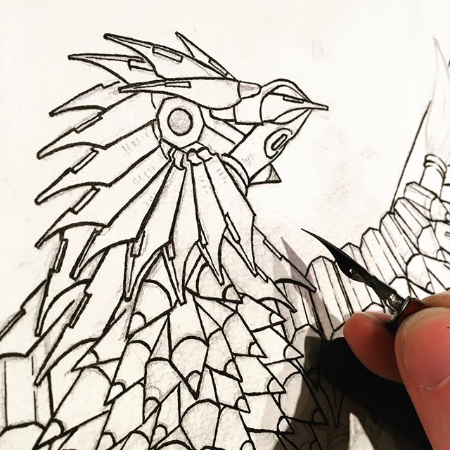 inking ink nibs with an ink nib. ✍🤘 #ink #illustration #eagle #bird #drawing