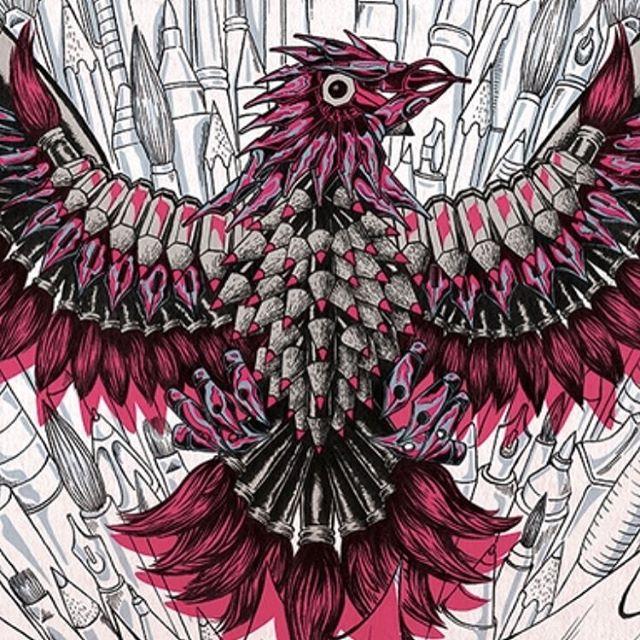 Wait - an ink nib eagle? 😊 #illustration #eagle #ink #pink #fun #drawing