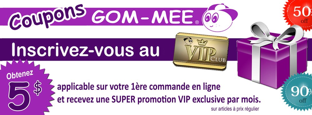 Inscription au club VIP GOM-MEE / Inscription at VIP Club