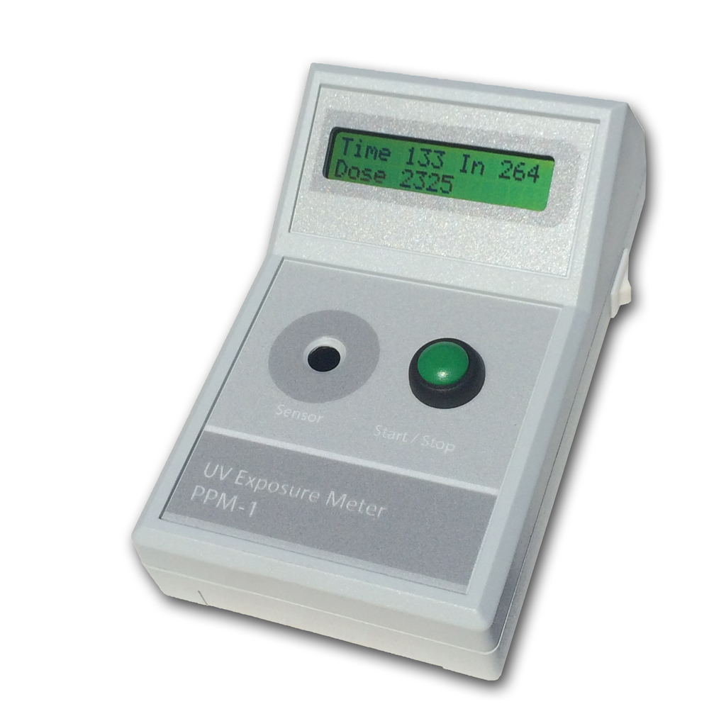 The PPM-1 handheld UV exposure dose meter.