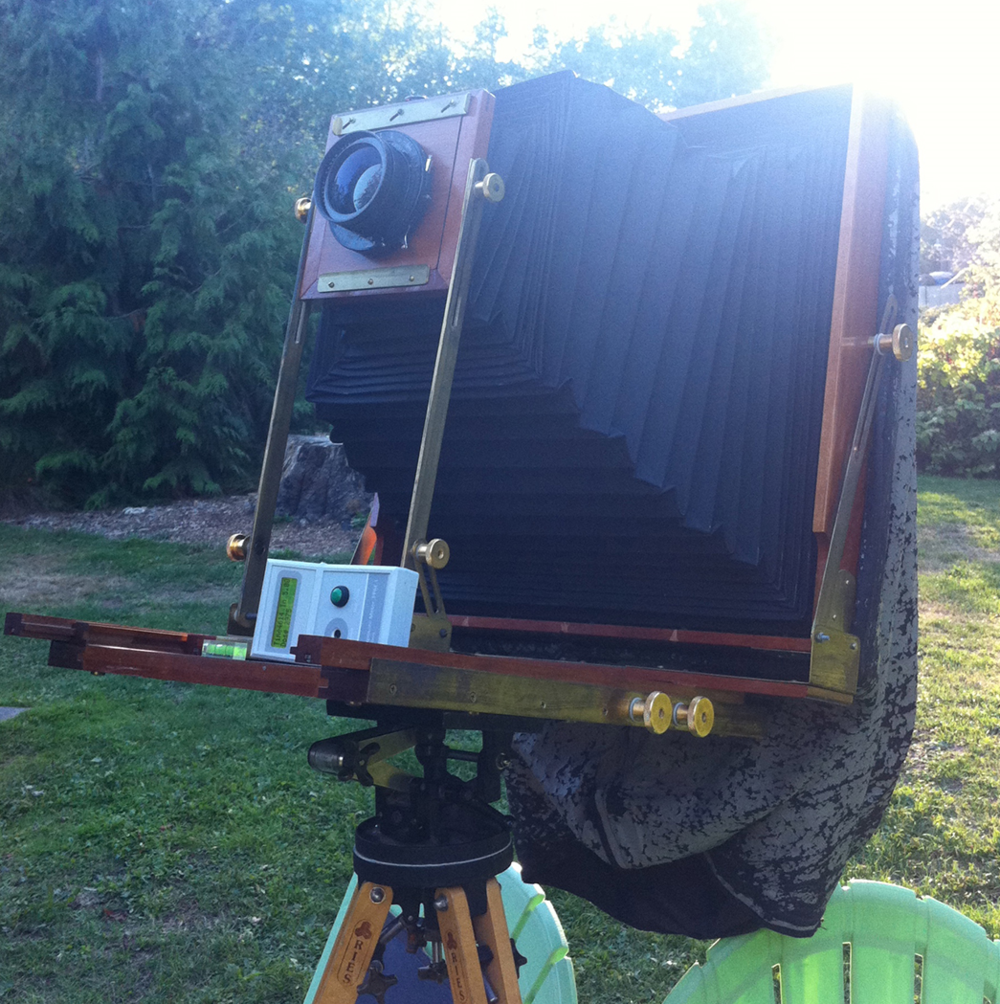 PPM-1 and large format cameras for direct capture of platinum images  - courtesy Scott B. Davis, California