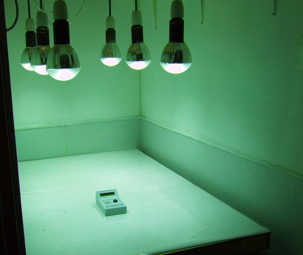 PPM-1 used for testing uniformity of UV source - courtesy of Kees Brandenburg, Netherlands