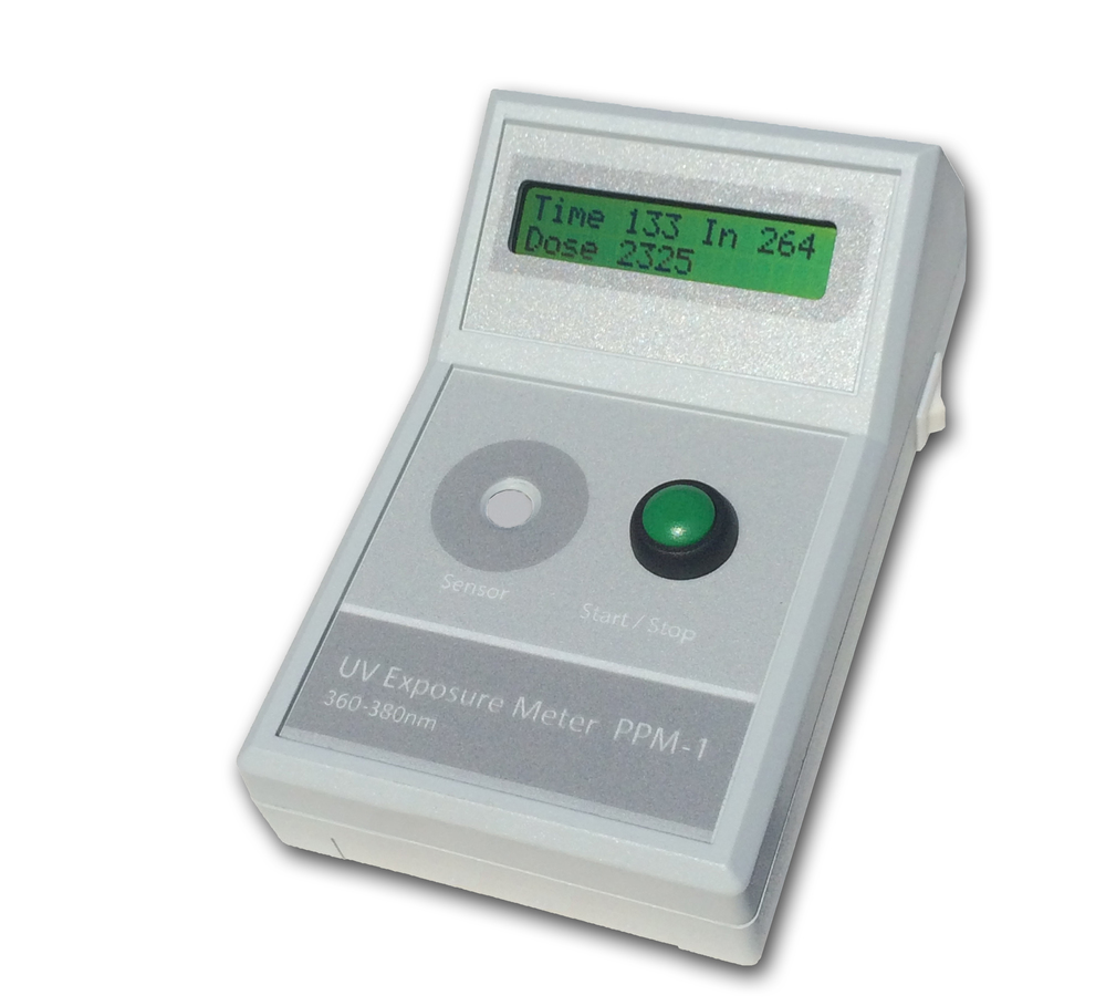 The PPM-1 handheld UV exposure dose meters.