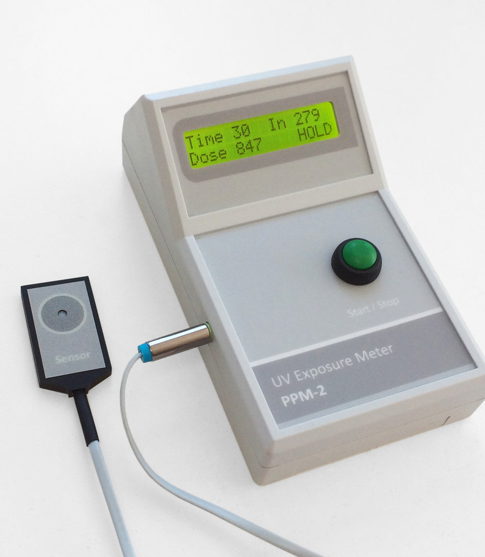 The PPM-2 UV   exposure dose meter with   external   UV sensor