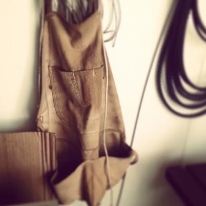 vintage work apron