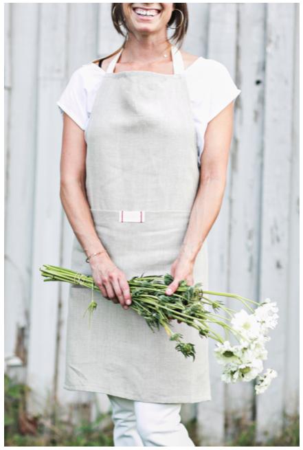 spring linen apron