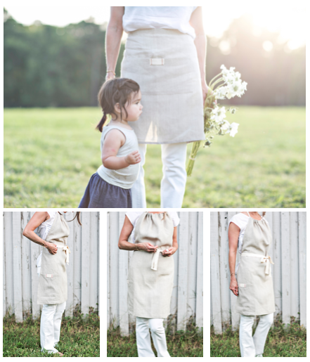 spring linen aprons