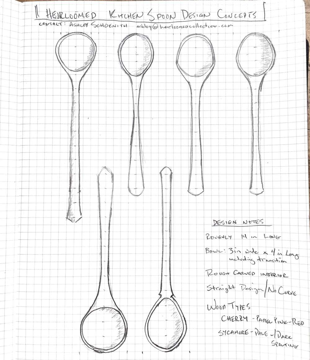 spoon product sketches