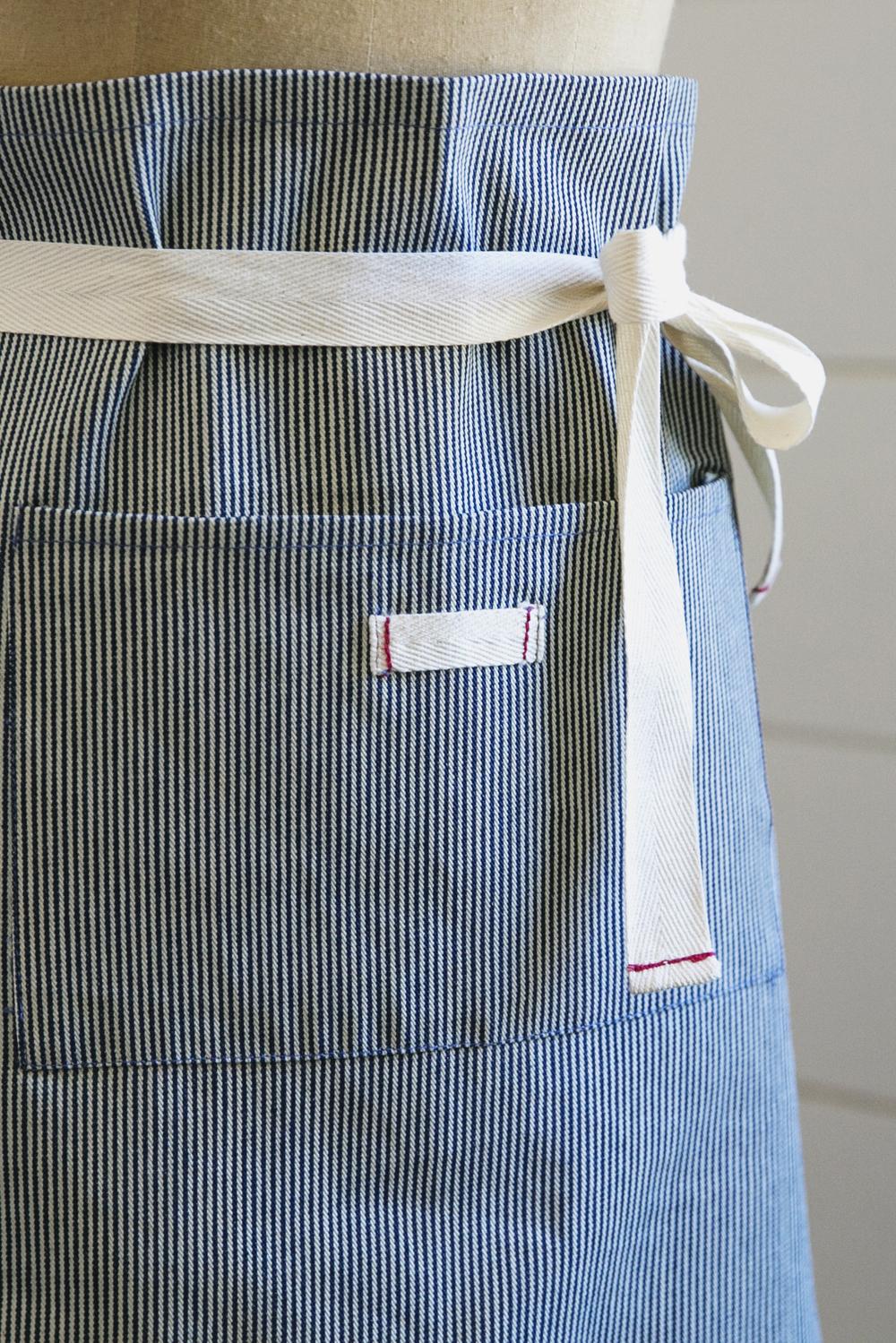striped cafe apron