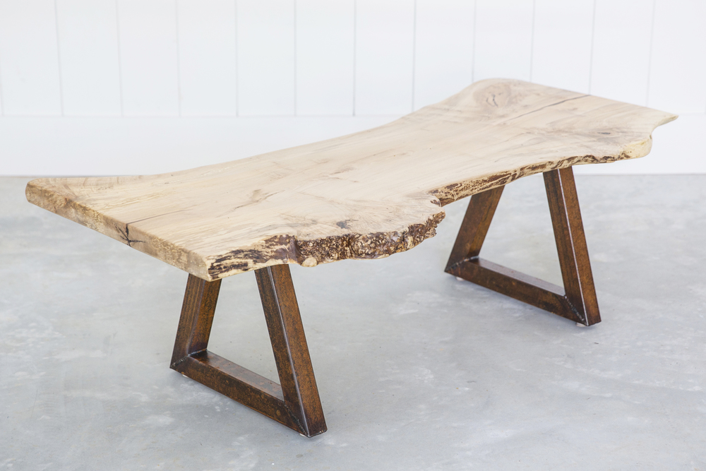 WoodKith maple slab coffee table