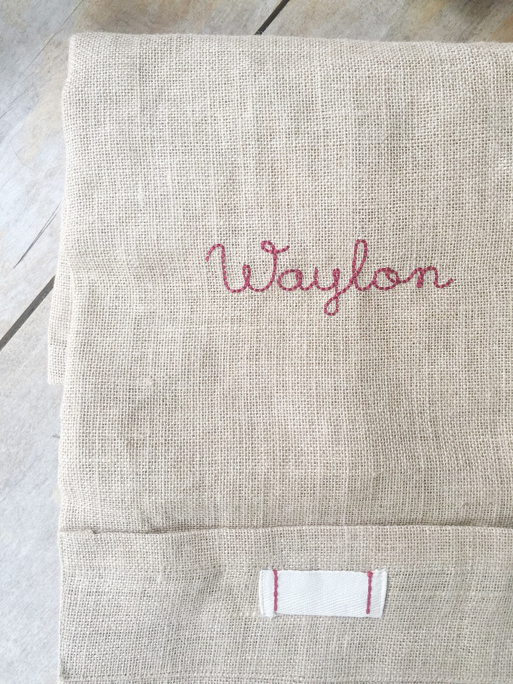 Hand-Stitched Script (name)