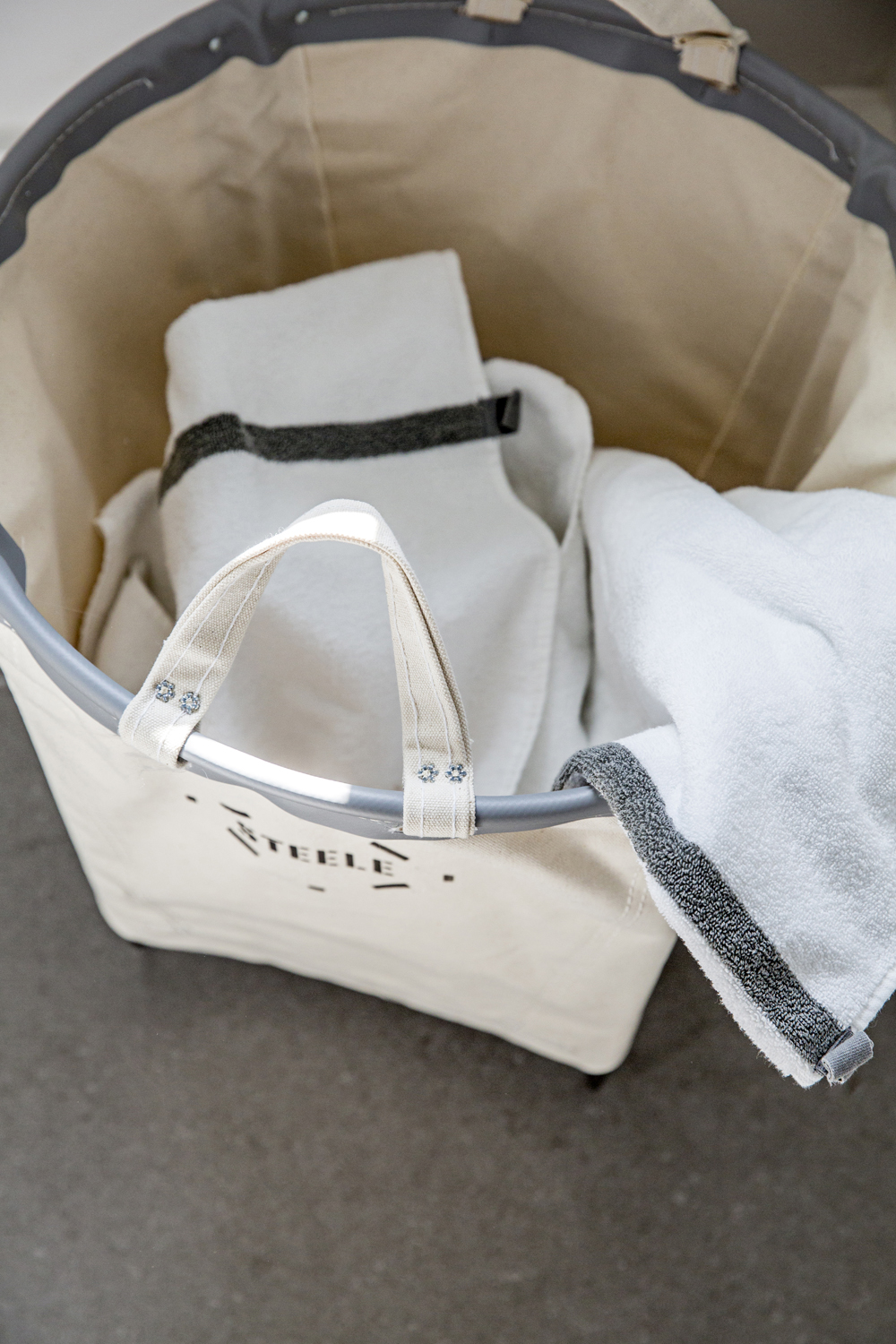 steele canvas laundry basket