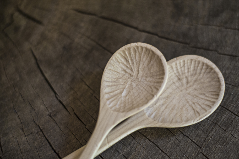 hand carved wooden spoons