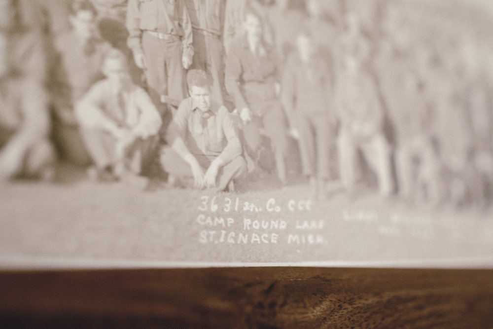 handwritten photo detail
