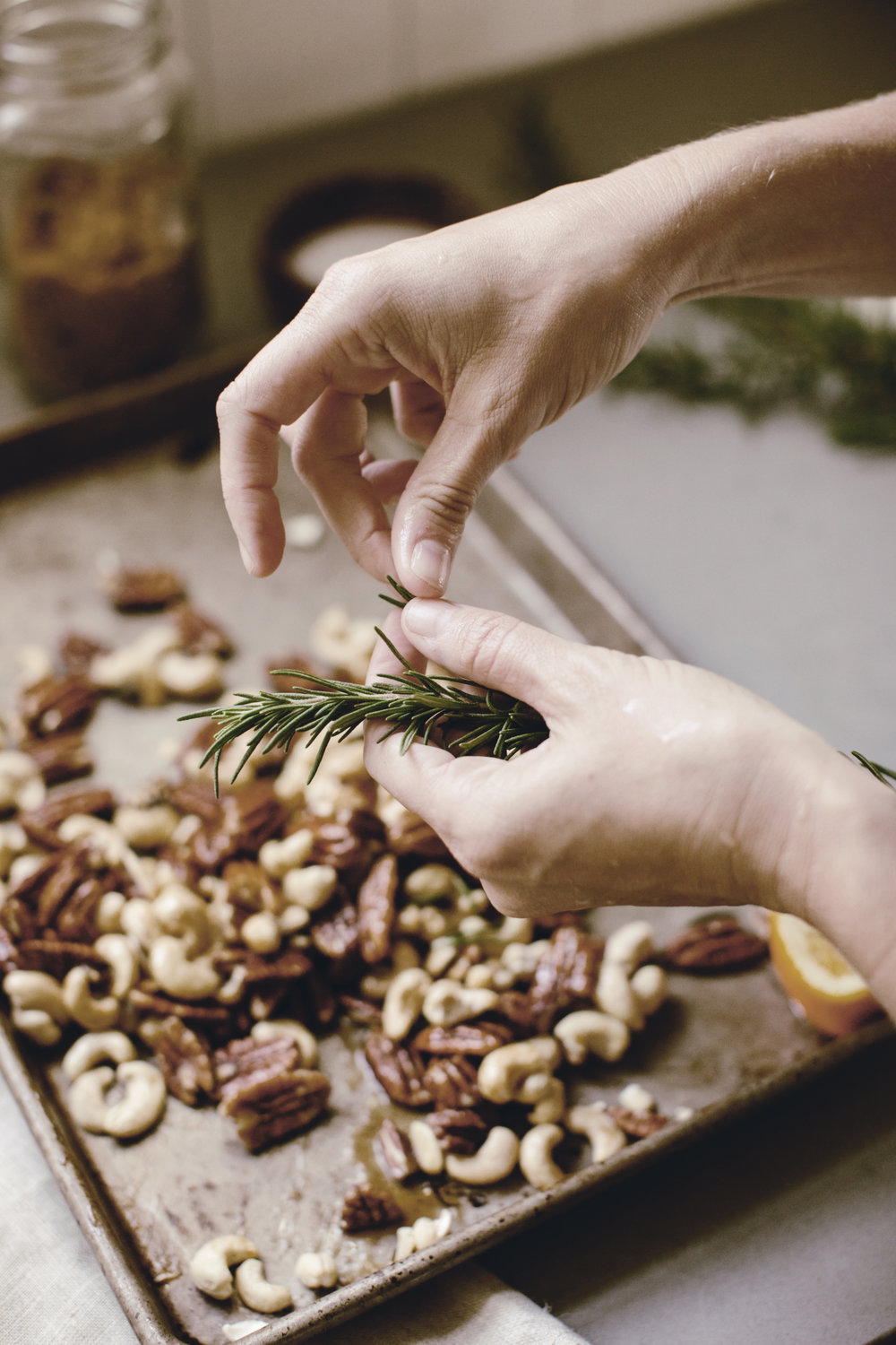 rosemary roasted nuts / heirloomed recipe