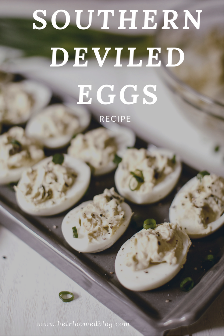 Southern Deviled Egg / pin it Pinterest / heirloomed