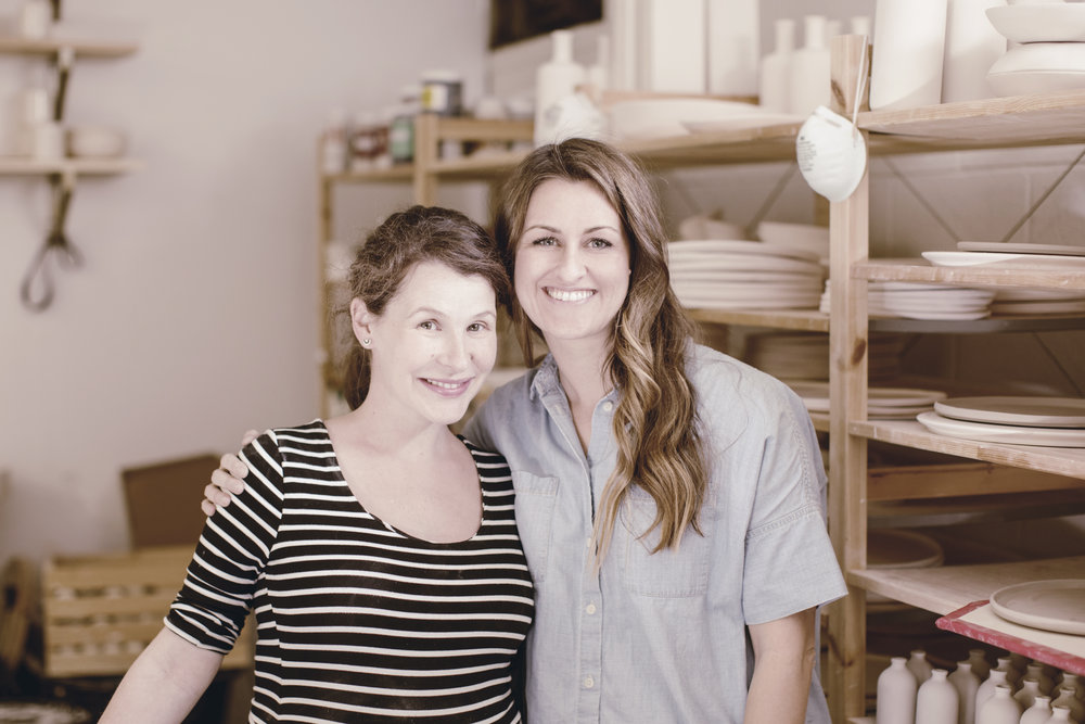 courtney hamil of honeycomb studio and Ashley Schoenith of heirloomed