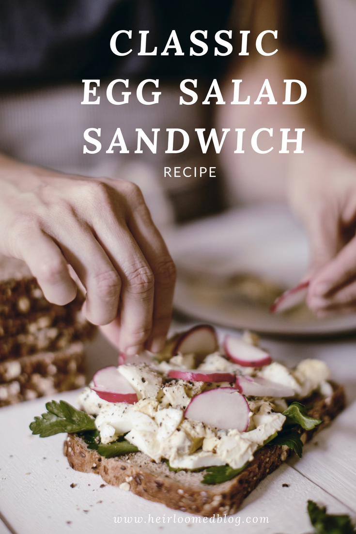 Classic Egg Salad Sandwich recipe / heirloomed