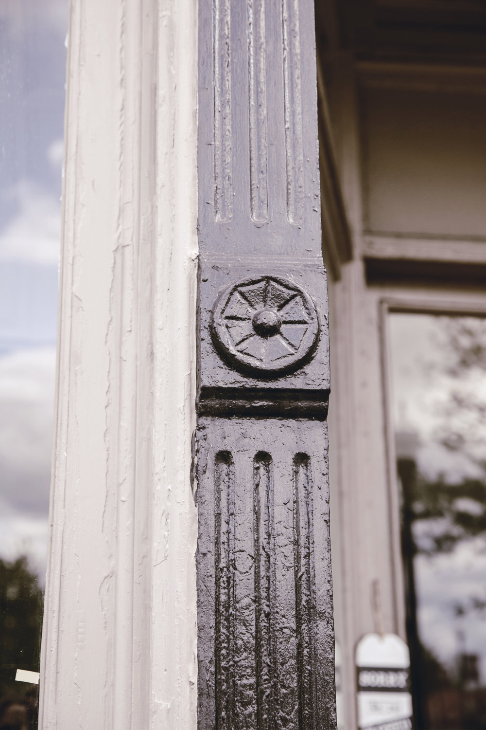 Historic architectural detail from Benton Supply Co building in Monticello GA / heirloomed