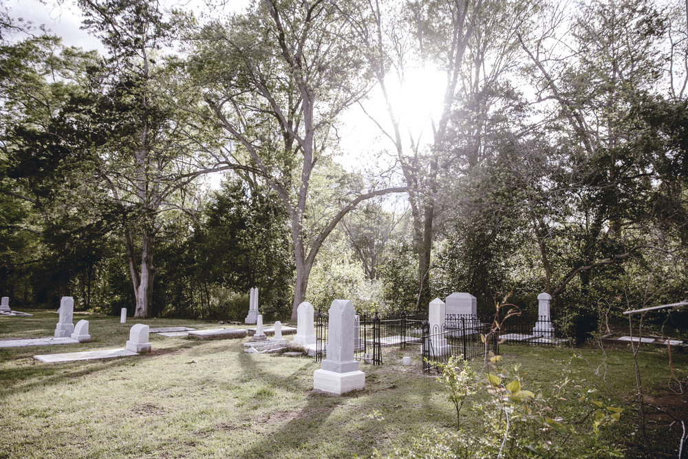 renovated cemetery at Monticello United Methodist Church / heirloomed