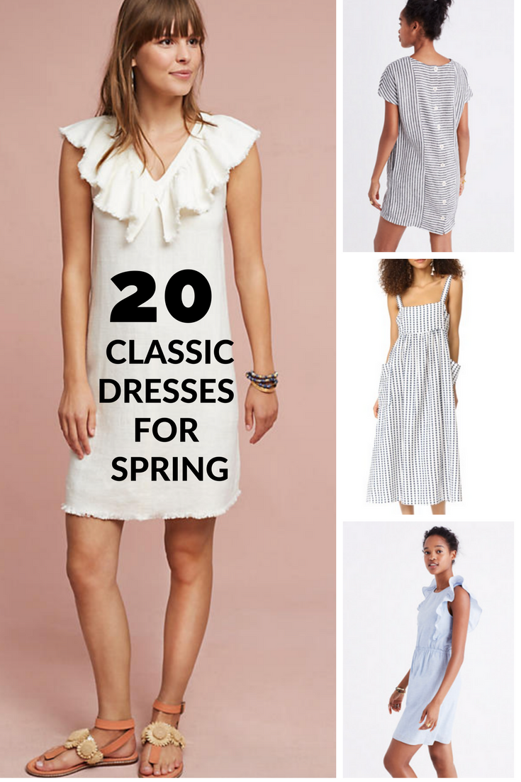 20 classic dresses for spring 2017 / capsule collection / heirloomed