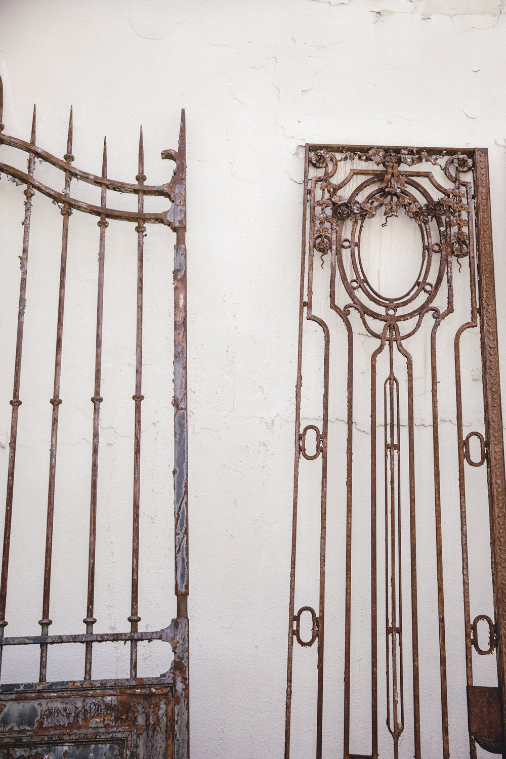 antique architectural gates in chamblee / heirloomed