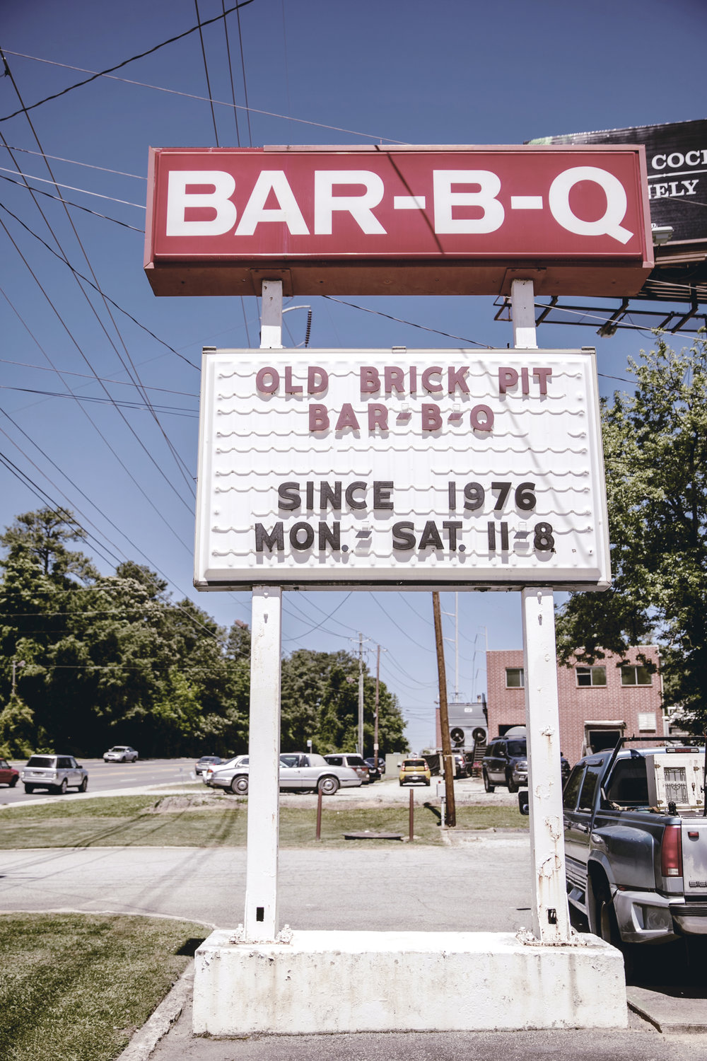 Old Brick Pit BBQ in Chamblee GA / Small Town Squares / heirloomed