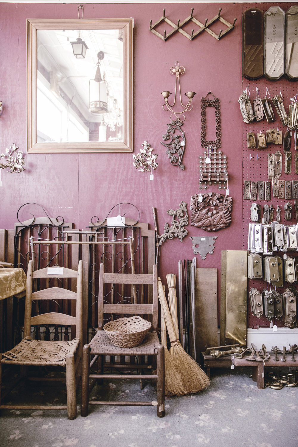 antique chairs and hardware / heirloomed