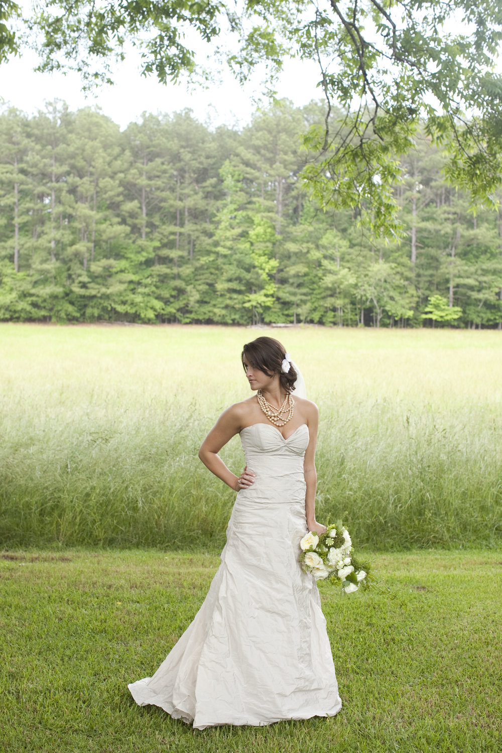 outdoor bride / heirloomed