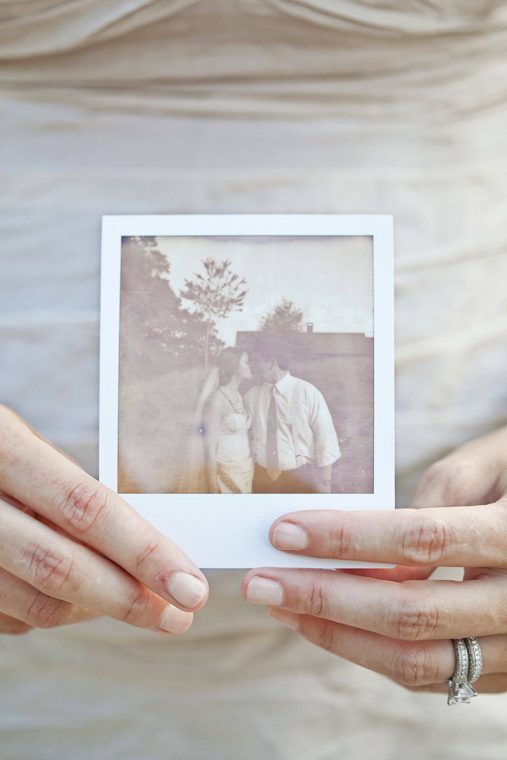 my favorite wedding photo / polariod / heirloomed