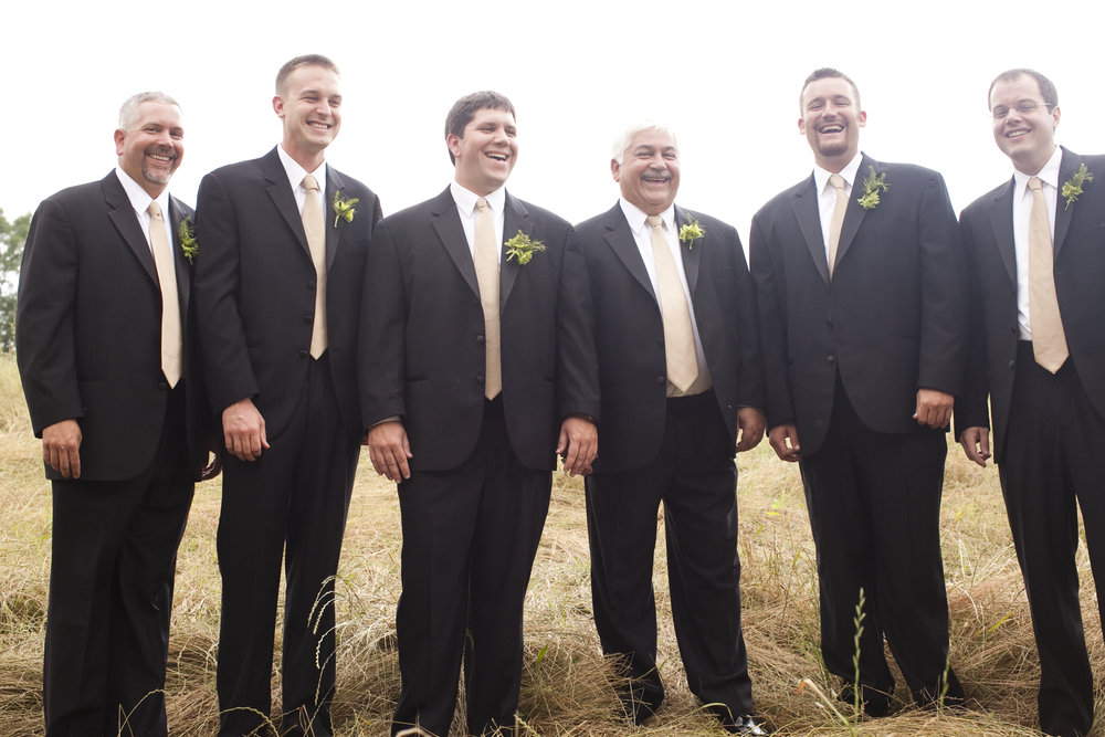 groom and groomsmen / heirloomed