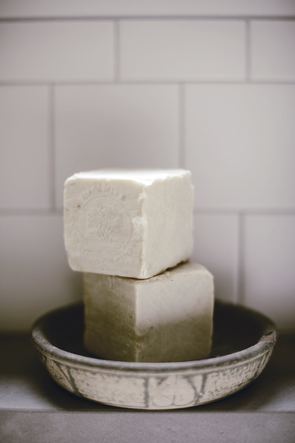 cubes of French soap / heirloomed