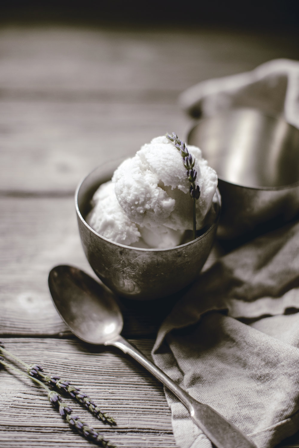 fresh lavender coconut milk ice cream / heirloomed