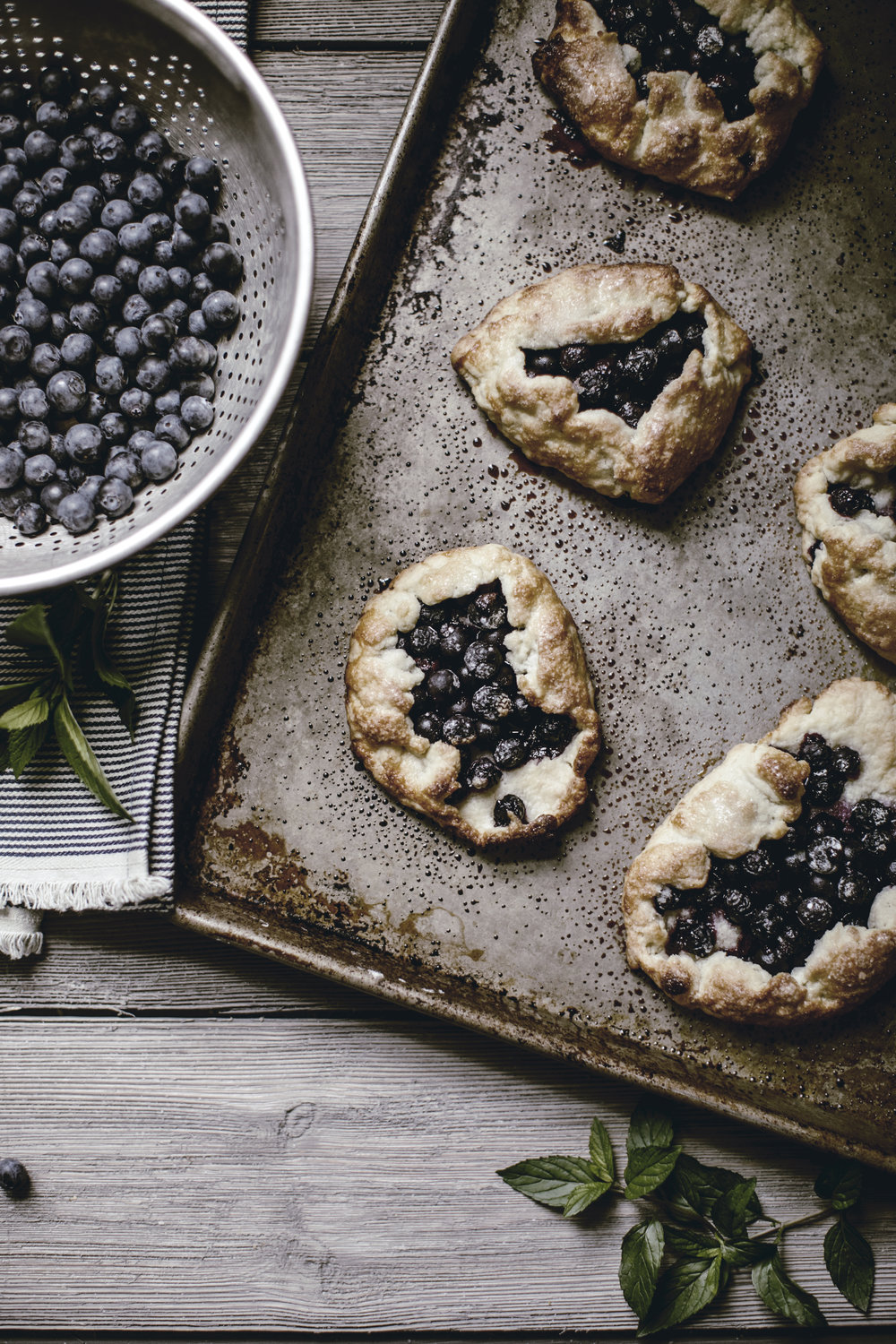 Rustic Blueberry Galette recipe / heirloomed