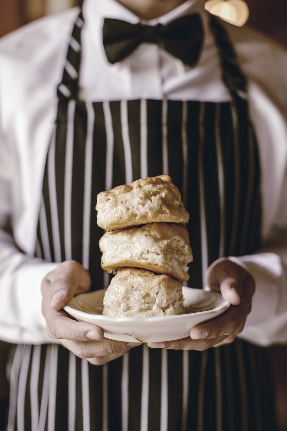 buttermilk biscuits with honey / heirloomed