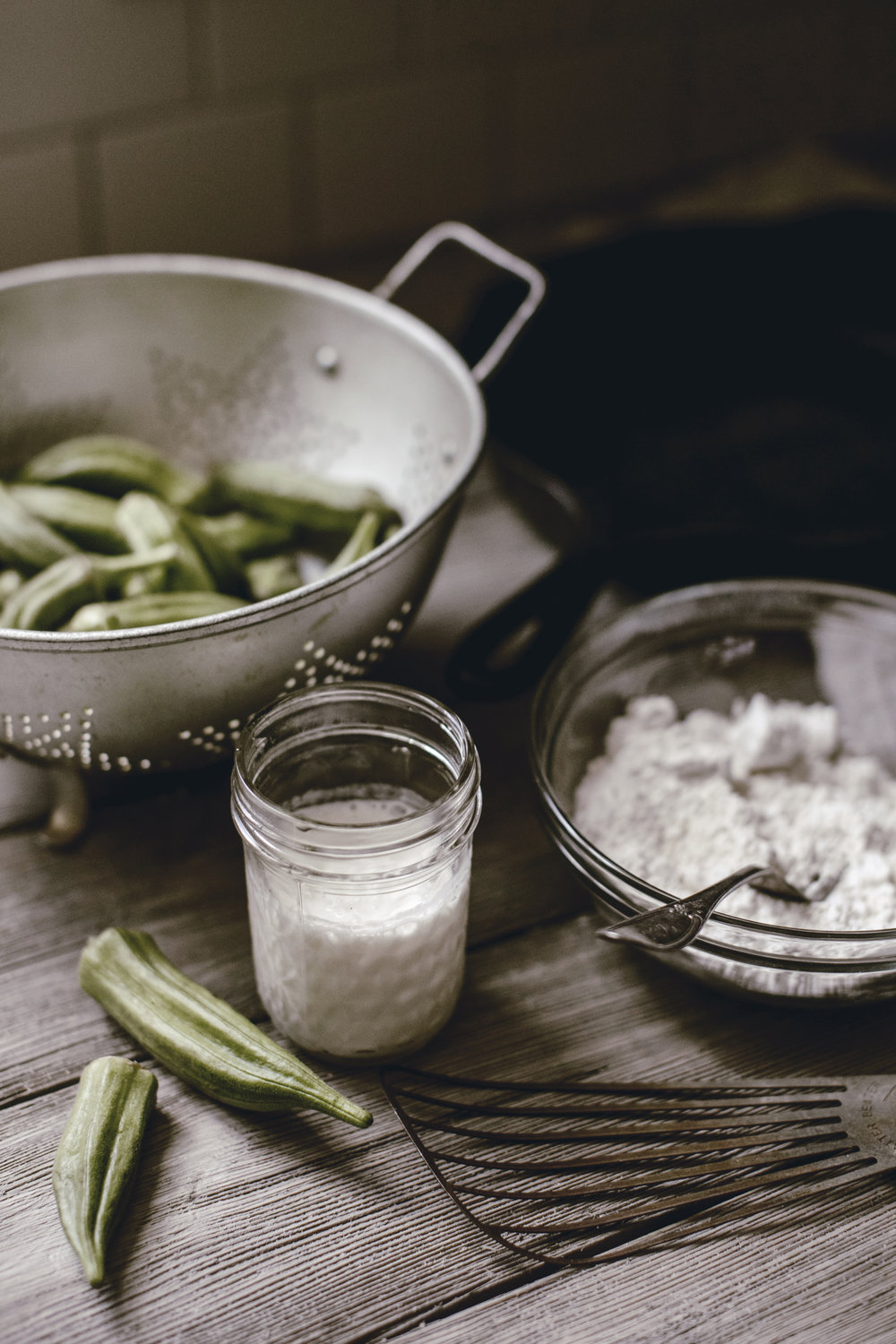 farm fresh okra / fried okra / southern kitchen bucket list / heirloomed