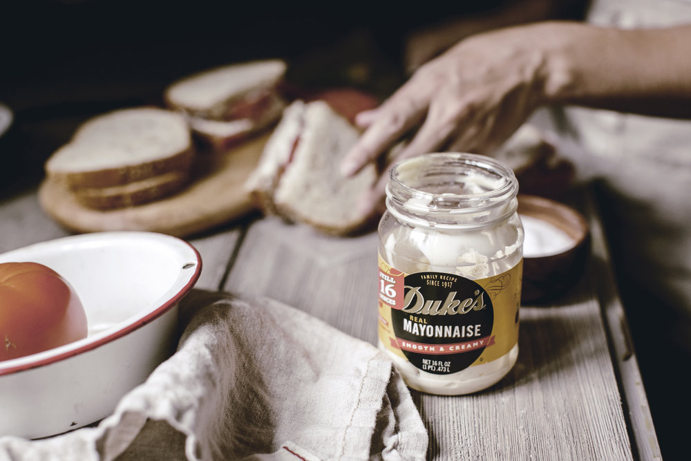dukes mayo for a classic southern tomato sandwich/ heirloomed