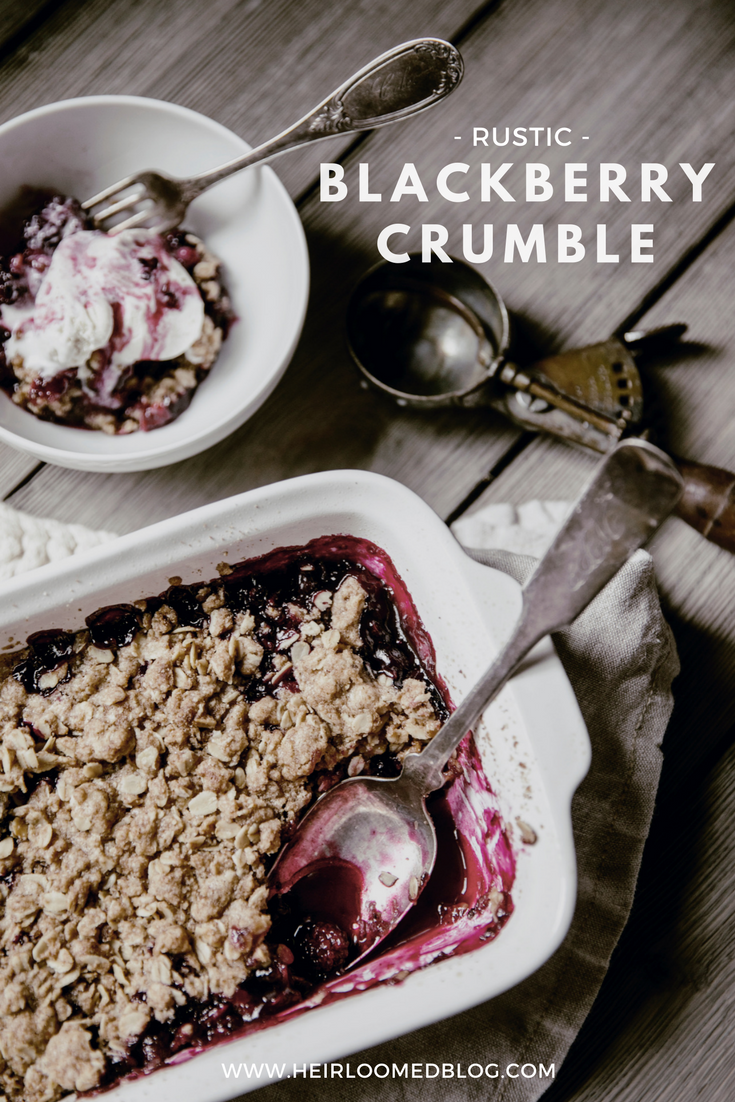 Rustic Blackberry Crumble Recipe