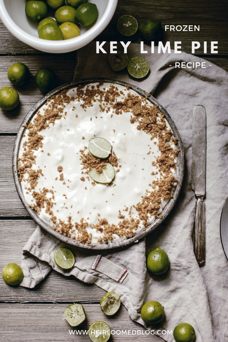 frozen key lime pie recipe / heirloomed