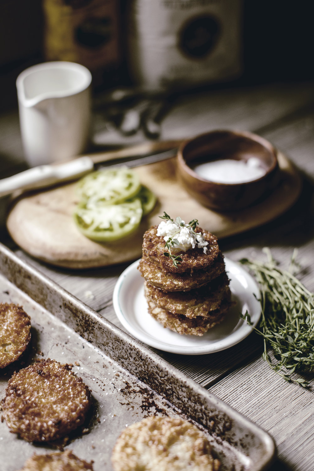 fried green tomatoes / southern kitchen bucket list / heirloomed