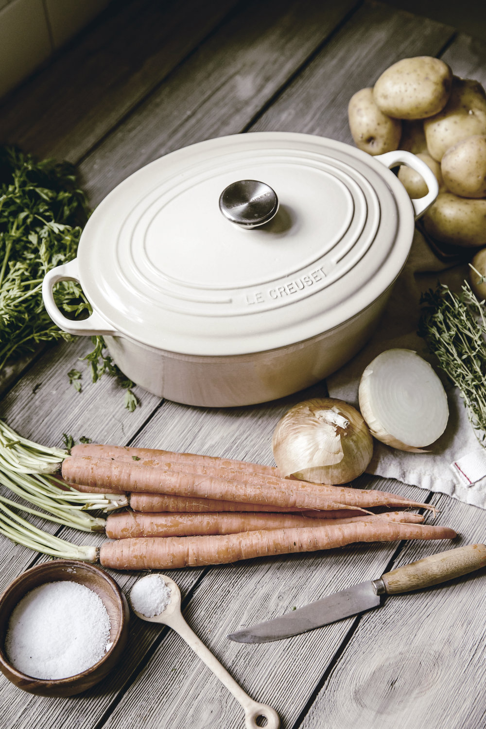 dutch oven with vegetables