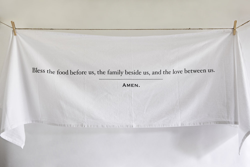 simple blessings collection table runner / heirloomed