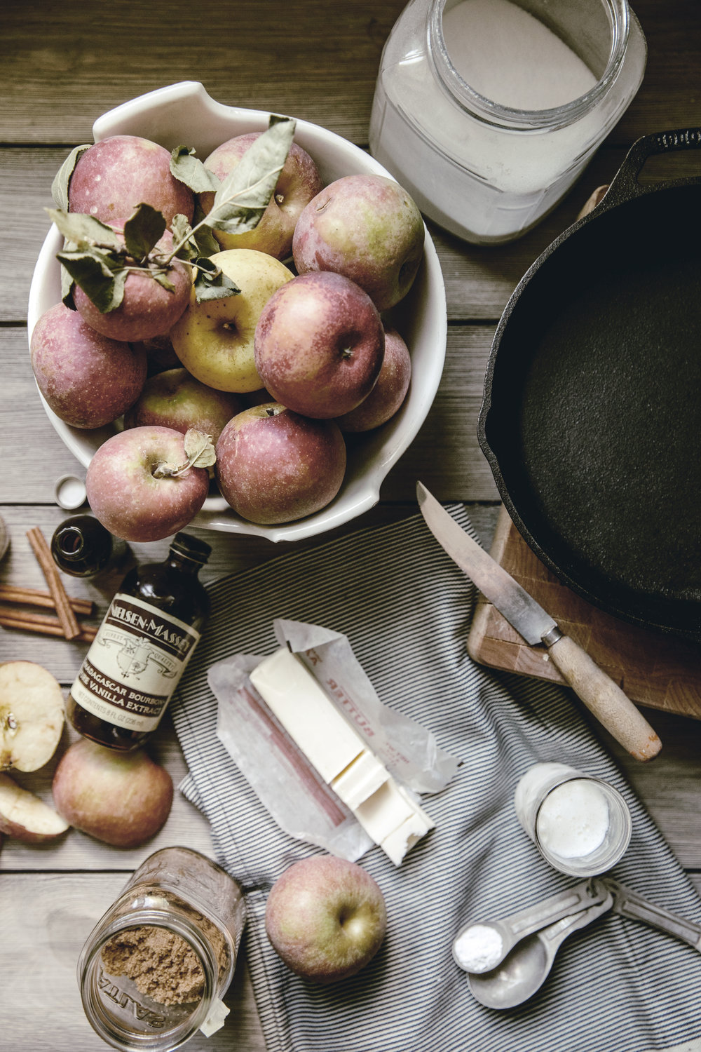 Apple Skillet Cobbler ingredients