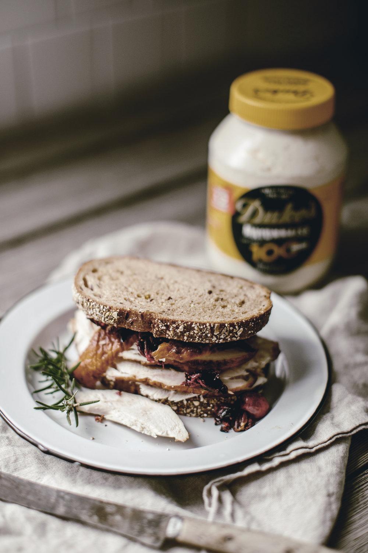 Turkey sandwich duke's mayo thanksgiving anniversary